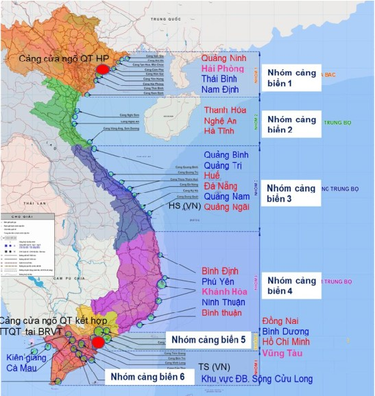 Maps Of Vietnam Seaports In Group