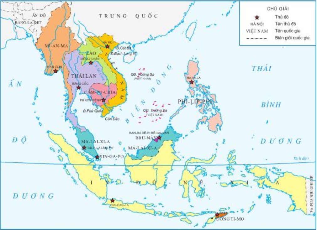 Maps Of Vietnam in The Southeast Asia Region