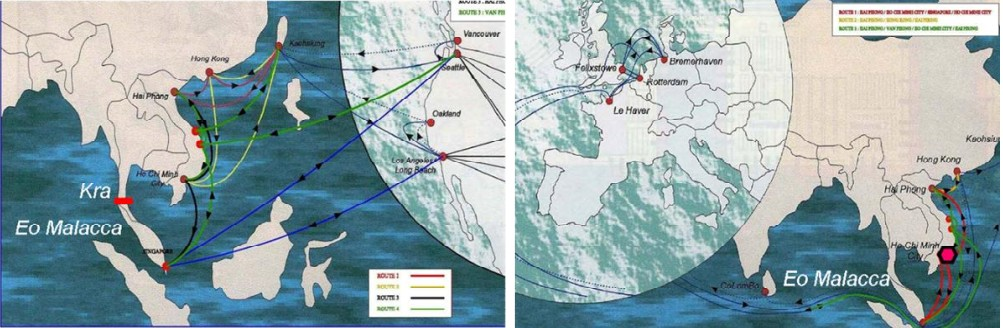 The connection between Vietnam and International Shipping Routes