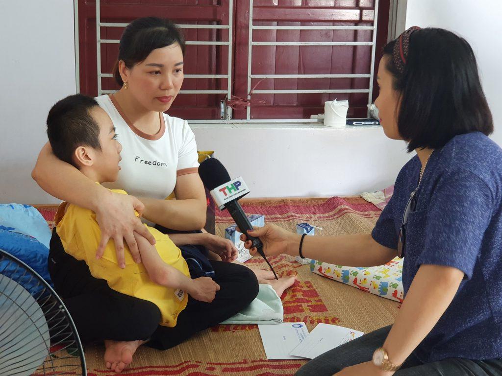 Cháu Đào Quang Cường Thịnh không may nhiễm di chứng chất độc màu da cam